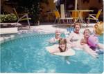 Susan - Ren - Betty - Jen in the pool