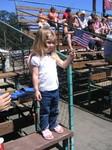 Ella waving the flag