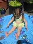 Ella in the wadding pool