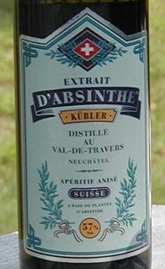 Extrait D'Absinthe Kubler - label