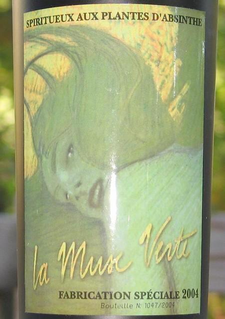 La Muse Verte - label close-up