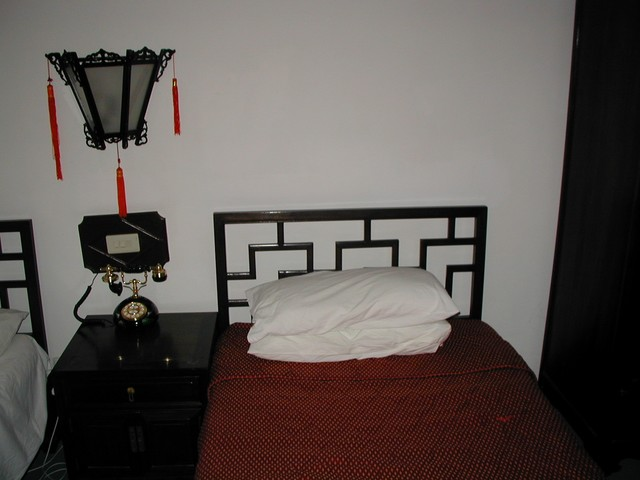 Headboards on the Chinese style beds