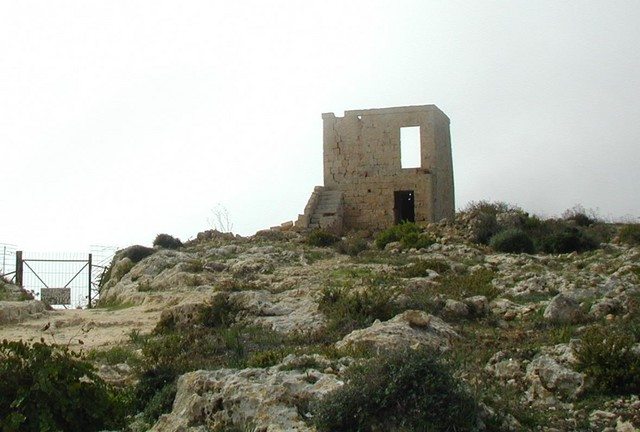 abandonded watch tower on the coast