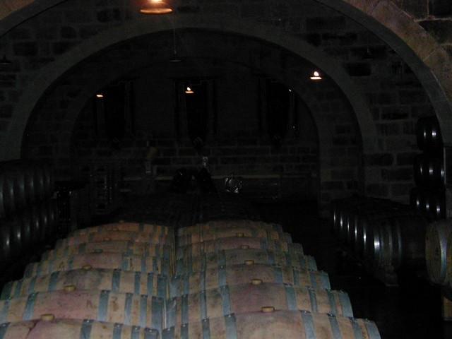 deep in the limestone cellar