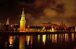 Moscow lights on the water