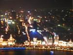 Dense Shanghai at night