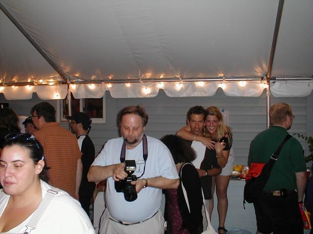 Larry preps his camera