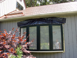 Pella bow window missing wooden shingles on top