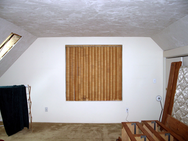 former window in master bedroom