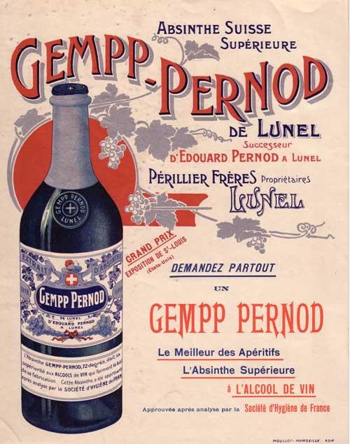 Gempp Pernod advert
