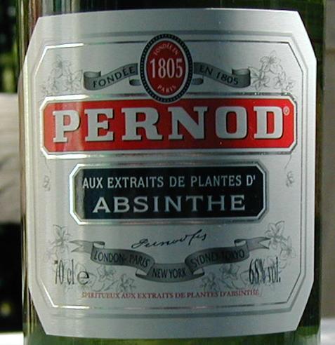Pernod Absinthe 68 label
