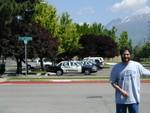 Joe near the Provo Police Department