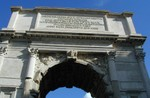 Arch of Titus detail on top