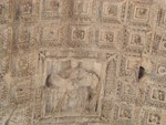Arch of Titus detail under top