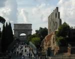 Arch of Titus near Temple of Venus