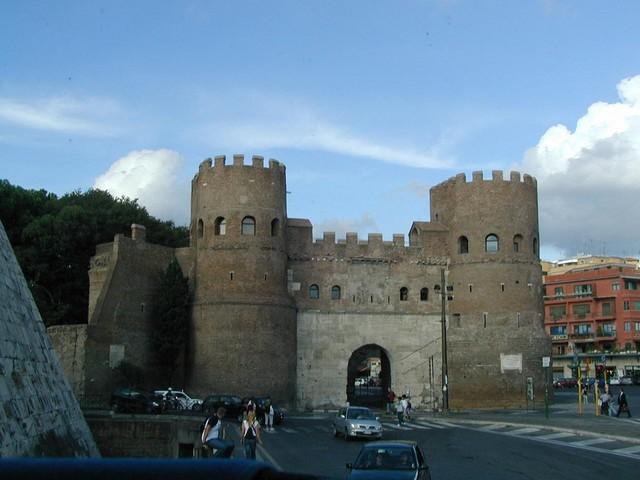 Aurelian Wall near San Paulo and Pyrimid