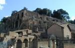 Palentine Hill behind Basilica Julia