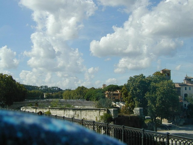 Pons Aemilius - stone remnant in Tiber
