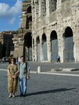 Ren and Joe at the Colosseo