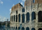 facing the Temple of Venus and Roma in the Forum