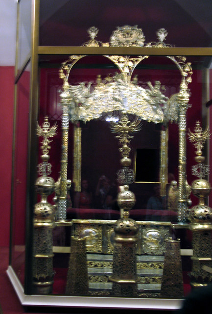 Tsars Ivan & Peter's Thrones - with cut-out for half-sister and Regent Sofia to advise