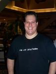 Greg Harp in bin laden shirt