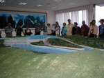 Another view of the Great Dam Project model at the tourist info site