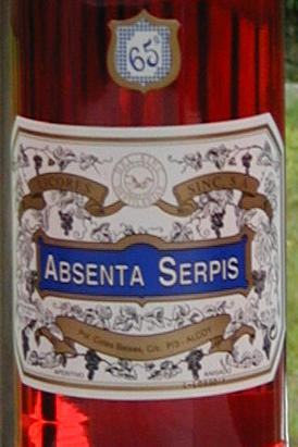Absenta Serpis label