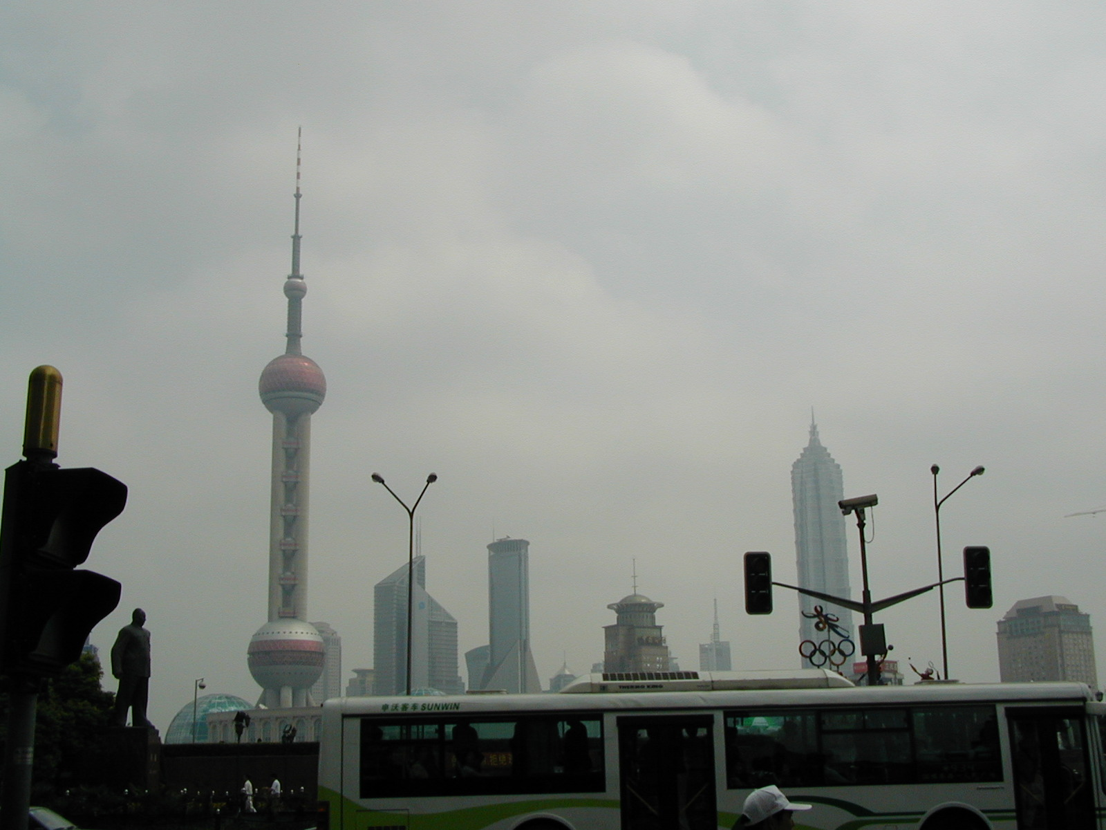 Gazing at Pudong from Shanghai