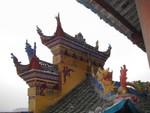 Hand-painted roof peaks