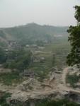 Roads were not paved near Shibaozhai