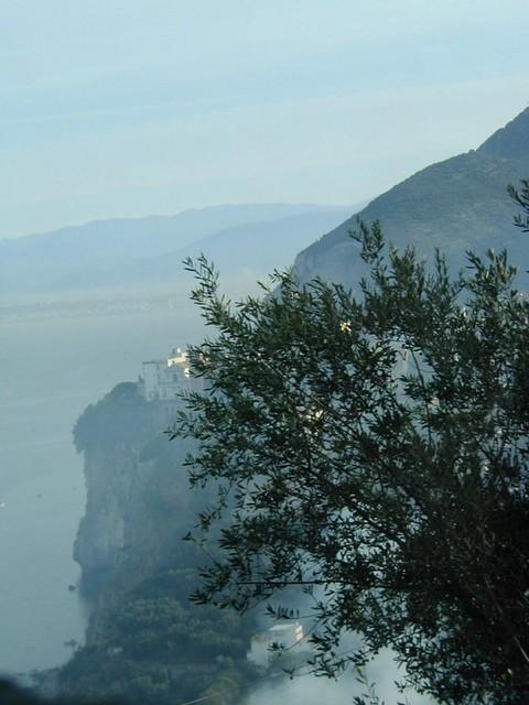 Mansions on cliffs