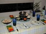 place setting fondue