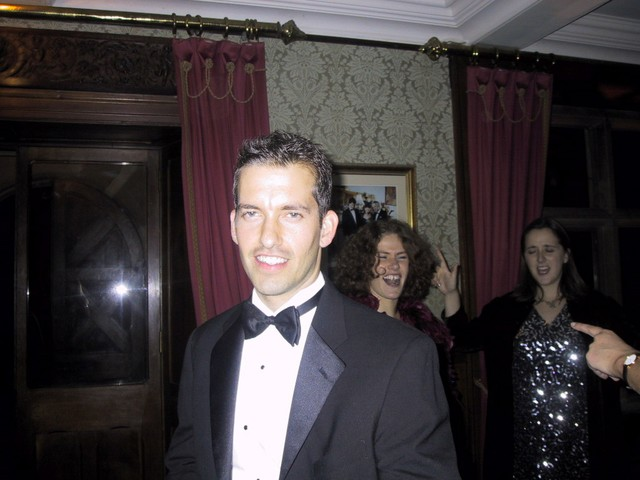 ET in a tux at Coop's wedding