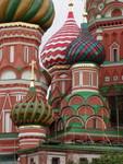 close-up of the domes at St Basils