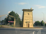 Egyptian gate in roundabout