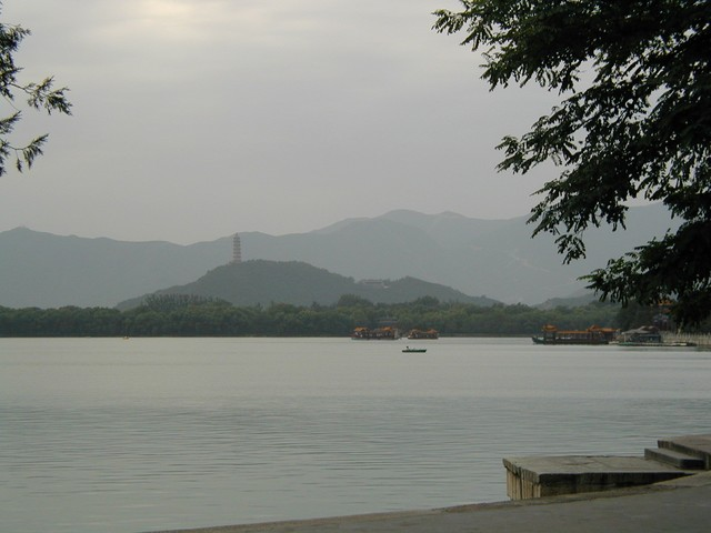 Calm view across Lake Kunming at the Summer Palace