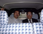 barry & mr. hwang in the car