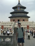Joe with Temple of Heaven over his shoulder