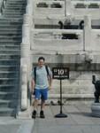 Joe at base of staircase
