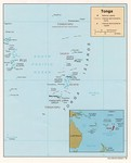 Tonga - political map