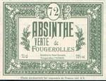 etiquette absinthe fougerolles