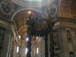 Bernini canopy over tomb of Saint Peter