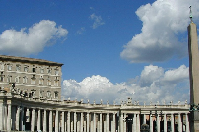 Papal apartments to the Obelisk