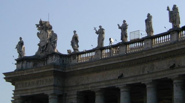 Piazza San Pietro relief detail