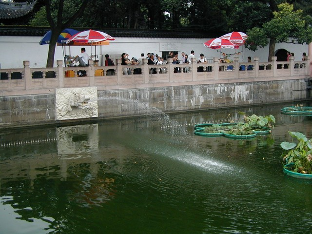 One of the fountains near Yuyuan Garden