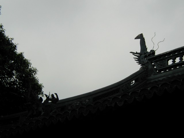 Animals on roof detail
