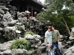 Ren and Joe in the rock garden