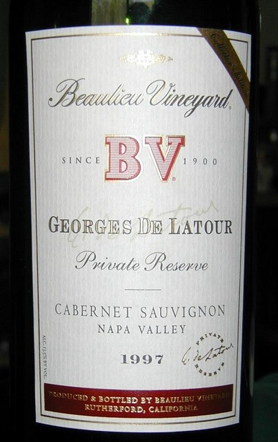 Georges De Latour Private Reserve 1997 cab sauv