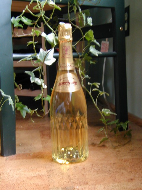 champagne bottle on the cork